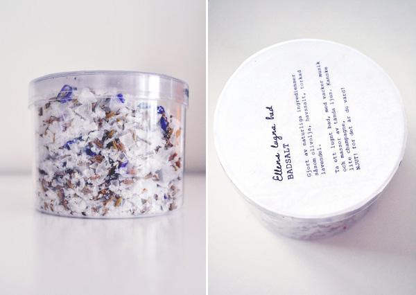 herbs infused bath salts