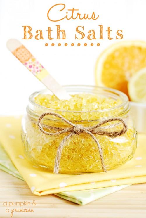citrus bath salts (via shelterness)