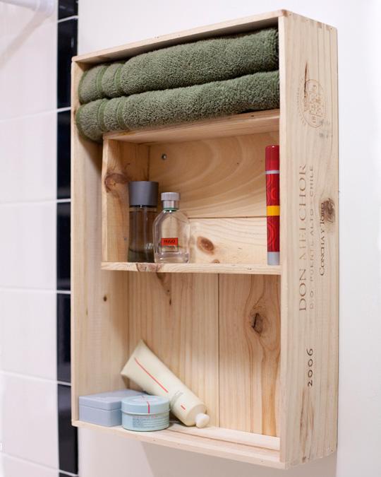 Diy Bathroom Medicne Cabinet Of Two Wine Crates