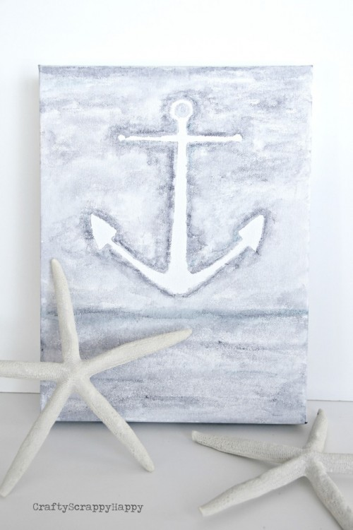 water color anchor canvas (via craftyscrappyhappy)
