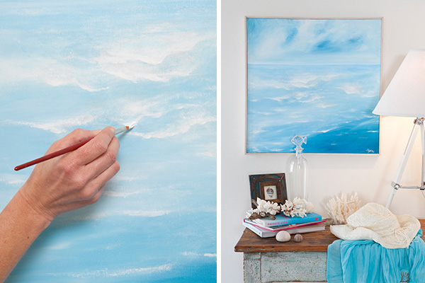 16 diy beach inspired wall art ideas seaside wall art via