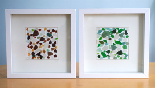 sea glass wall art (via creativeinchicago)