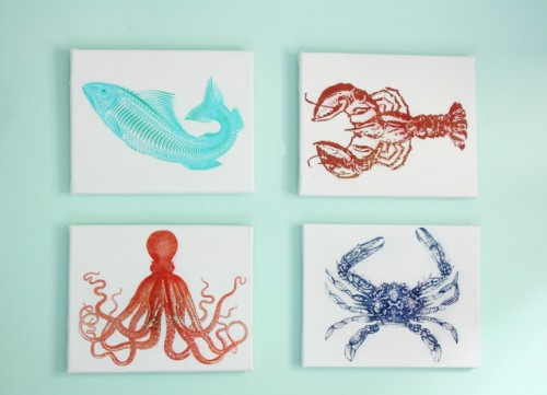 sealife canvas art (via nestofposies-blog)