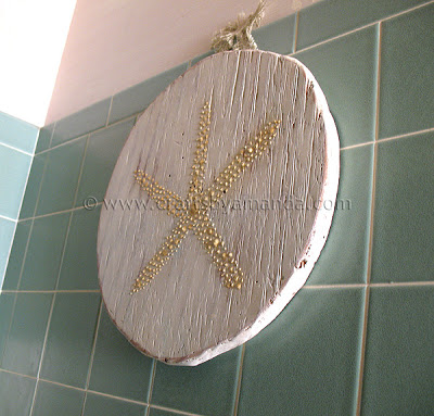 beach starfish plaque