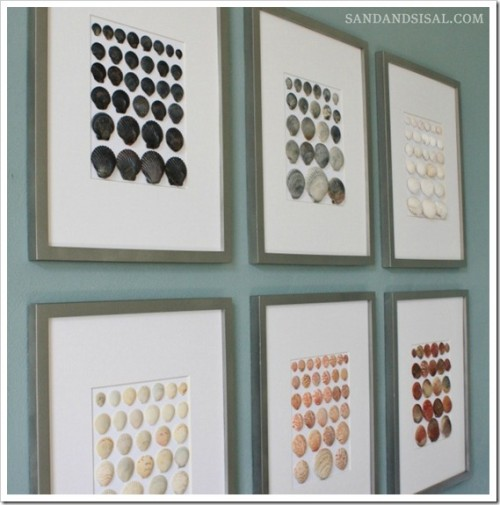 shell wall art (via sandandsisal)