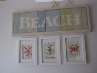 easy beach creatures wall art