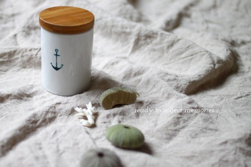 painted beach memory jar