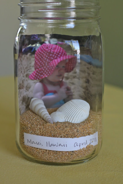 beach memory jar with a photo (via thecountrychiccottage)