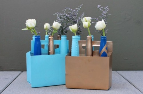 Diy Beer Bottle Bud Vases