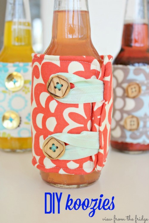 DIY Beer Cozies For Parties Or Barbeques