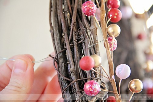Diy Berry Heart Wreath For Valentines Day