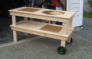 big green egg table with wheels (via rantrave)