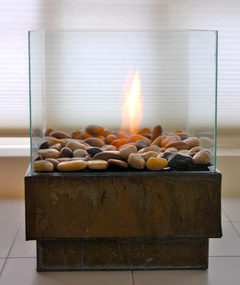 portable bio ethanol fire pit - 3 DIY Bio Ethanol Fireplaces That You Can Make Yourself - Shelterness