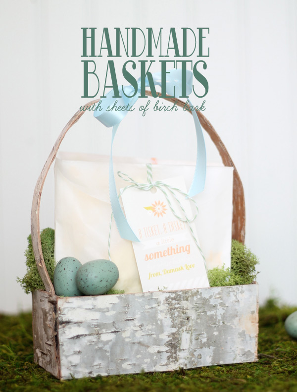 Diy Birch Bark Basket For Spring Decor