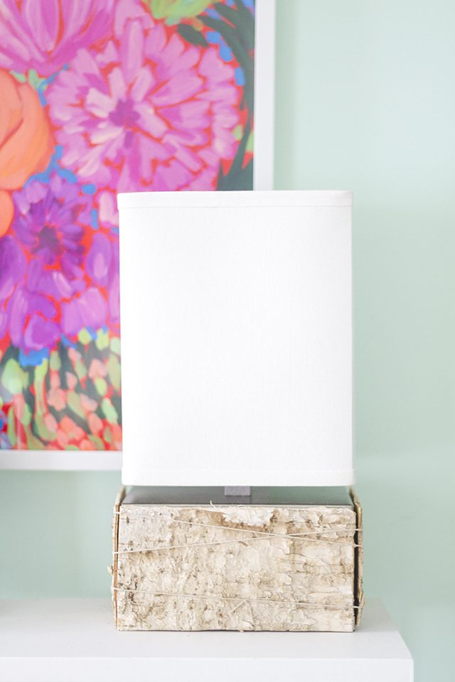 Picture Of diy birch bark lamp for a chic rustic touch  2