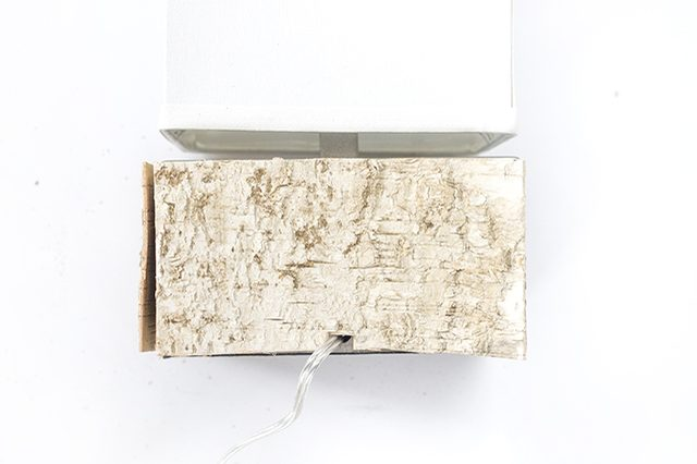 Picture Of diy birch bark lamp for a chic rustic touch  6