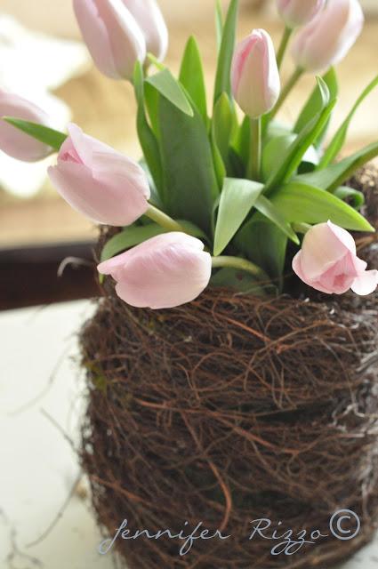 Diy Birds Nest Vase As An Easter Centerpiece