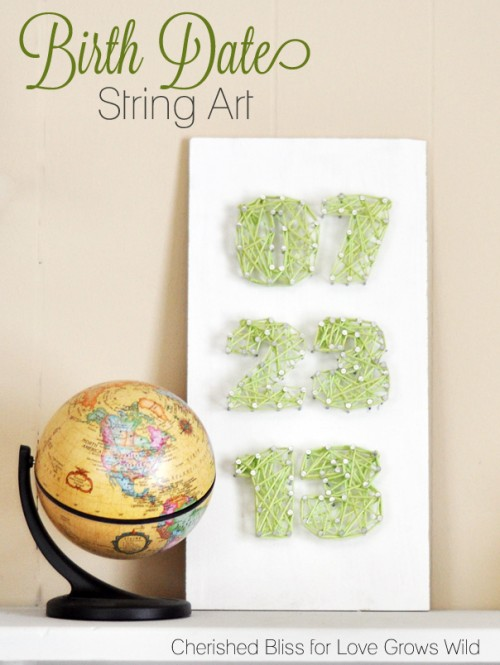 DIY Birth Day String Art