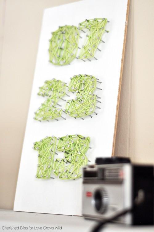 DIY Birth Day String Art
