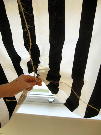 Diy Black And White Curtains