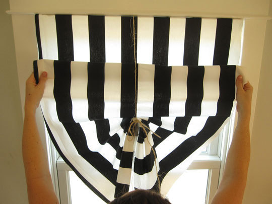 Picture Of Diy Black And White Curtains