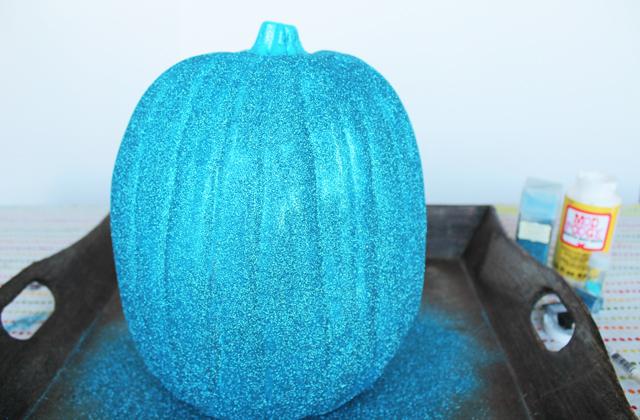 Picture Of diy blue cinderella butterfly pumpkin  3