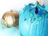 diy-blue-cinderella-butterfly-pumpkin-6