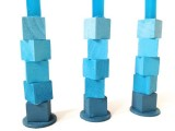 Diy Blue Mini Taper Candle Holders