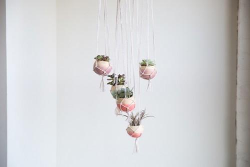 boho hanging planters (via https:)