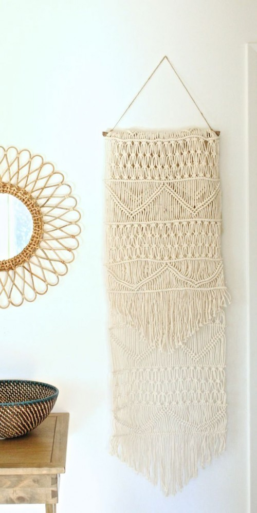 macrame wall hanging (via make-haus)