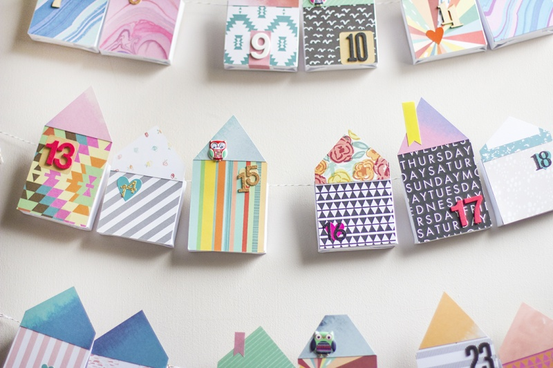 Picture Of diy bold paper houses advent calendar  1