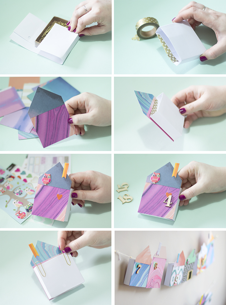 Picture Of diy bold paper houses advent calendar  2