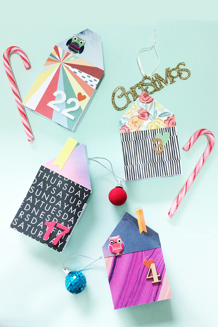 Picture Of diy bold paper houses advent calendar  3