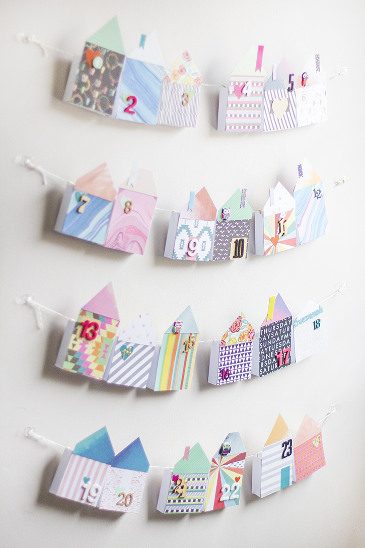 Picture Of diy bold paper houses advent calendar  4