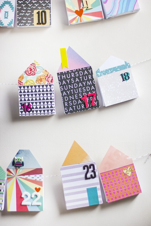 DIY Bold Paper Houses Advent Calendar