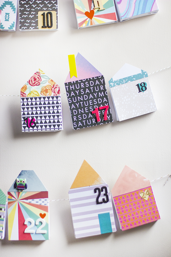 Picture Of diy bold paper houses advent calendar  5