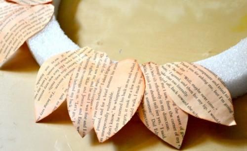 Diy Book Pages Wreath For Your Door