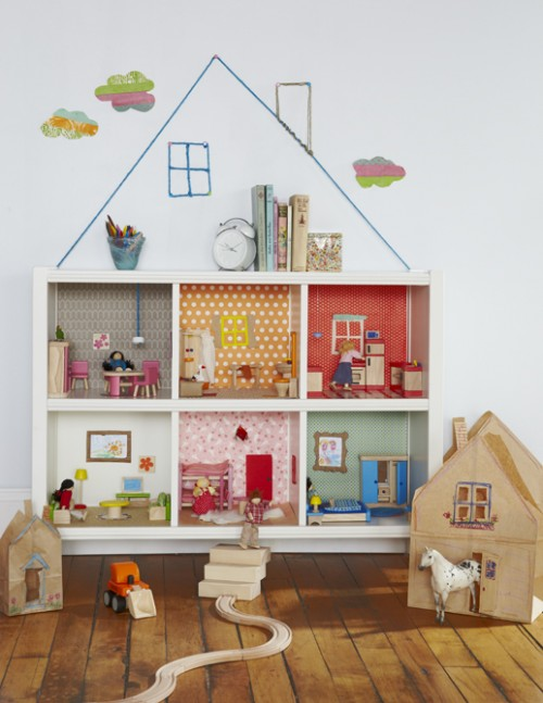 DIY Bookcase Dollhouse (via landofnod)