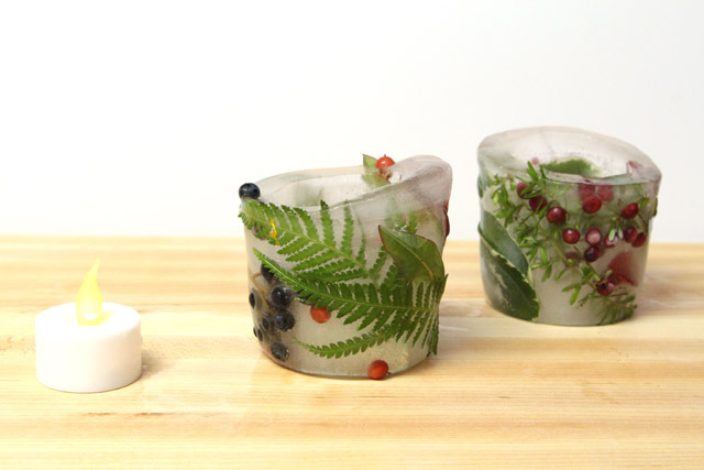 Picture Of diy botanical ice luminaries for outdoors  6