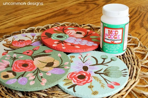 botanical cork coasters (via uncommondesignsonline)