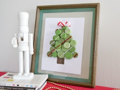 Diy Bottle Cap Christmas Tree