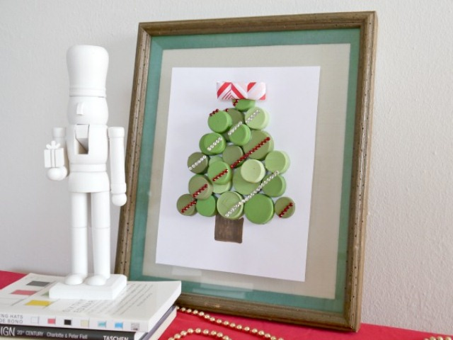 DIY Bottle Cap Christmas Tree