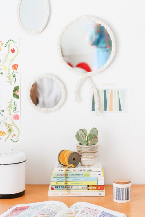 Diy Braided Mirror Or Coastal Decor