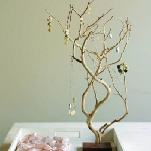 Diy Branch Jewelry Organizer