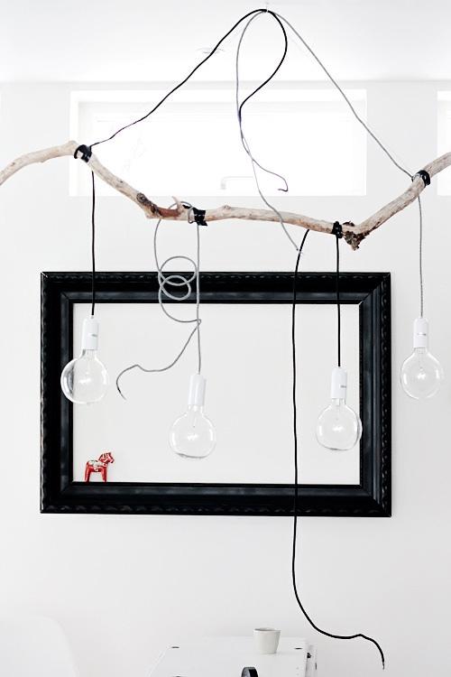 DIY Branch Pendant Lamp