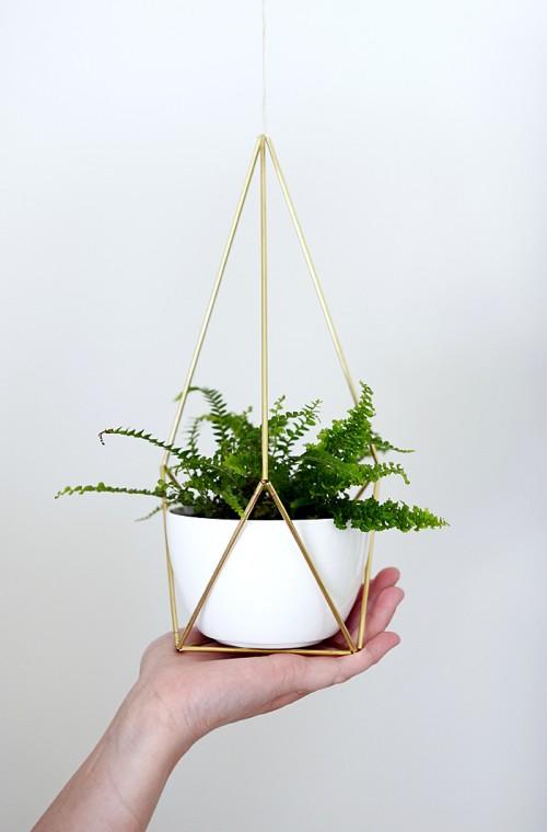 Diy Brass Himmeli Hanging Planters