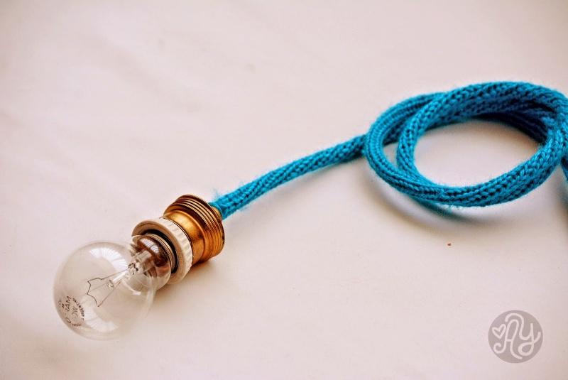 Diy Bright Cozy Crocheted Lamp