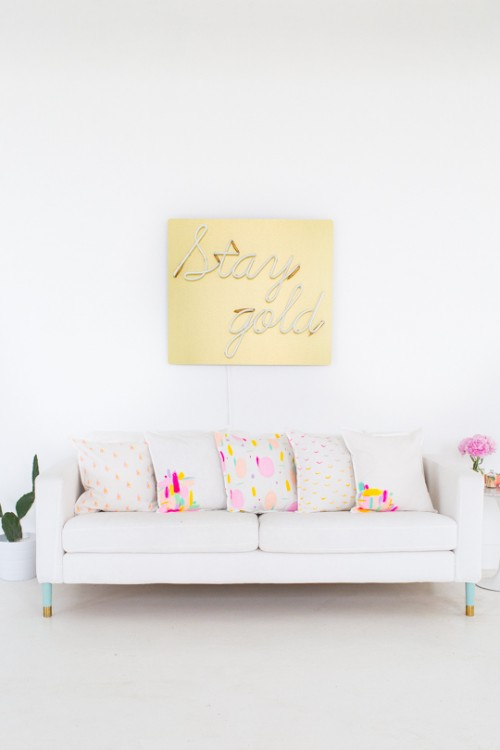 DIY Bright Patterned Throw Pillows