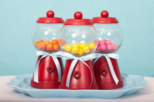 DIY Bubble Gum Machines For A Kids Party