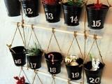 Diy Bucket And Branch Advent Calendar